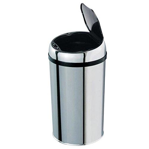 Kitchen Move BAT-12LA AS - Cubo de basura con sensor de apertura automático de acero inoxidable, 12 Litros