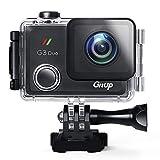 """GitUp - Action Camera G3Duo, 2160p - 12MP, fotocamera sportiva con EIS e schermo di tipo touch da 2"""", supporto opzionale per telecomando e GPS logger"""