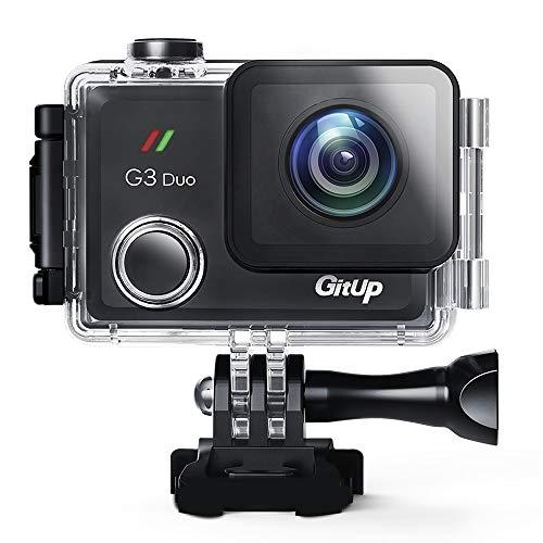 gitup 2160P G3 Duo - Cámara Deportiva con EIS (12 MP, Pantalla táctil de 5 Pulgadas, Mando a Distancia Opcional y Registrador GPS)