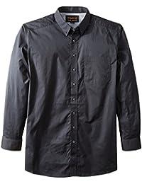 Ariat Men's Big and Tall Solid Long Sleeve Performance Poplin Shirt