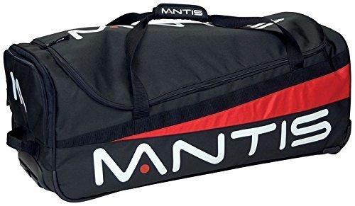 New Mantis Zip Öffnung Gepolsterte Innen Tennis Racket Wheelie Bag Schwarz-Rot (Webbed Tragegriff)