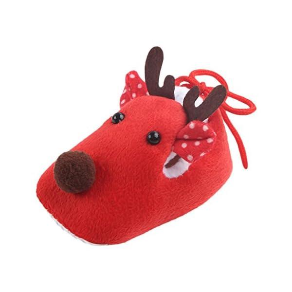 Saihui Newborn Infant Baby Boy Girl Christmas Crib Shoes Soft Sole Anti-slip Sneakers