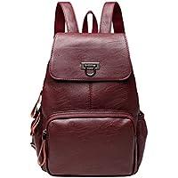FBGood Frauen Freizeit Leder Rucksack Großer Kapazität Reisetasche Satchel Taschen Studenten Umhängetasche Mode Universität Schulrucksack