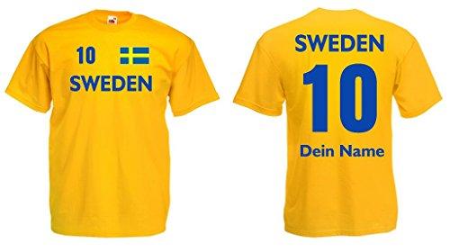 Sweden Trikot mit Wunschname und Wunschnummer von S - 3XL|g-s