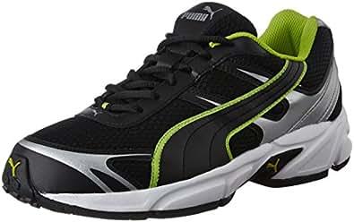 Puma Men's Carlos Ind Puma Black, Limepunch and Puma Silver Running Shoes - 10 UK/India (44.5 EU)