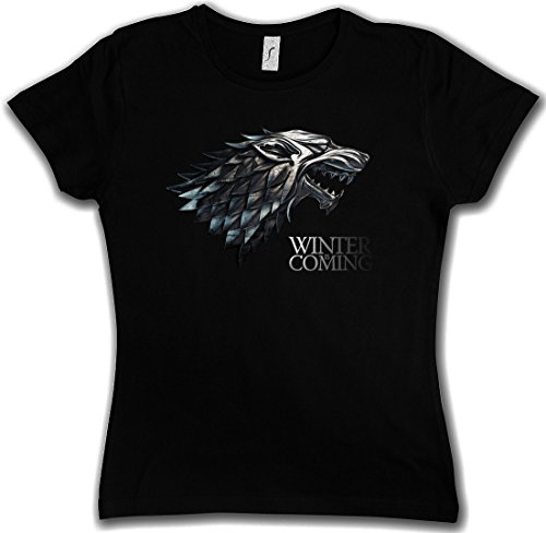 WINTER IS COMING T-SHIRT WOMAN GIRLIE DONNA SHIRT - Il Trono House Stark Targaryen di Spade Game Of Thrones Lannister Larp Eddard Ned Taglie S - 5XL