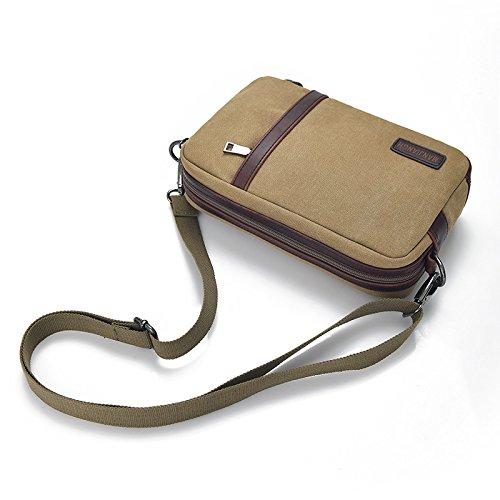 DJB/Casual Messenger Bag Leinwand baodan Damen und Herren Umhängetaschen Mann-Tasche Outdoor Mehrzweck Reisetasche Khaki