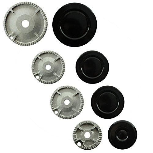Spares2go grabadora de Gas diseño de corona de fuego tapa para Ikea...