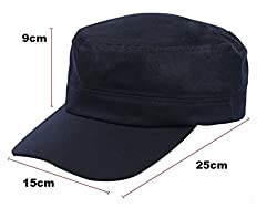 Morefaz Military Boating Hat Sailing Cap Army Sea Baseball Skipper,Wreck,Pirate,First Mate,Cabin Boy, Crew Cadet