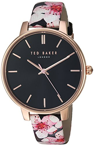 Ted Baker Women's 'KATE' Quartz Stainless Steel and Leather Casual WatchMulti Color (Model: TE50272001)