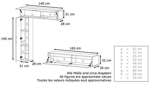 Wohnwand – Moderne Anbauwand in Weiß/Grau Bild 5*