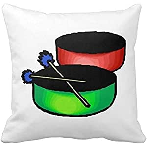 Pan Black Head Drums With Mallets Music Percussion R1dcea0d5ae6948eb8afac1043e5b8043 I5fqz 8byvr Pillow Case 18 * 18