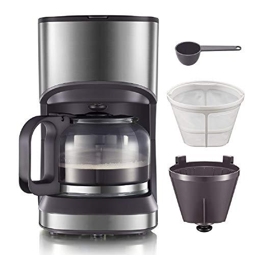 Amerikanische Kaffeemaschine für Konsumgüter und Gewerbe, Büro-Kaffeemaschine mit kleinem Tee, 550 Watt, 0,7L,Braun,0.7L