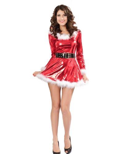 VENI MASEE Frauen sexy Geheimnis Santa Kostüm / Frau Fräulein christmas santa Kostüm Kostüm Outfit