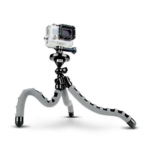 Accessory Power USA Gear Flexible Tripod mit 360-Grad-Kugelkopf, Schwarz Stativ – Stativ (Digitalkameras, 3 Füße, schwarz)