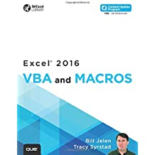 Excel 2016 VBA and Macros (includes Content Update Program) (MrExcel Library)
