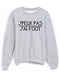 Sweat-Shirt citation Je peux pas j ai foot ref 1879 - M 254edef867ae