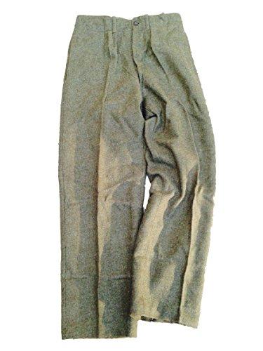 Vintage Belgische Armee Wolle Winter Hose Gr. M / L, Umstandsmode, Olive Drab Green