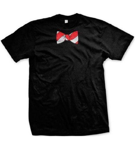 pams-papillon-maglietta-da-uomo-motivo-con-finto-papillon-maglietta-da-uomo-nero-small