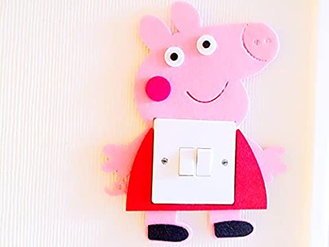 Super Cute 3D Peppa Pig Light Switch Wall Sticker, Must Have For Peppa Pig Fans! Premium Qualty Thick Felt Material! Super Cute! Kids Children Boys Girls Room Nursery Decor! Free Delivery In 2 To 3 Working Days! (Peppa pig)