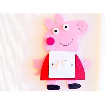 Super Cute 3D Peppa Pig Light Switch Wall Sticker, Must Have For Peppa Pig  Fans! Premium Qualty Thick Felt Material! Super Cute! Kids Children Boys  Girls ... Part 80