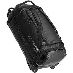 Eagle Creek Ultraleichter Backpacker Reisetasche mit Eagle Creek Rucksacktragegurten und Rollen Cargo Hauler Rolling Duffel, Schwarz, 120 l