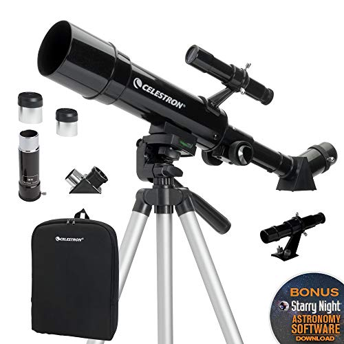 Celestron Travel Scope 50 - Telescopio portable con ampliación de 18x, longitud focal 36 cm, color negro, abertura de 50 mm