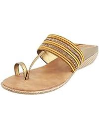 Walkway Women BLACK Synthetic Sandals (35-3049)