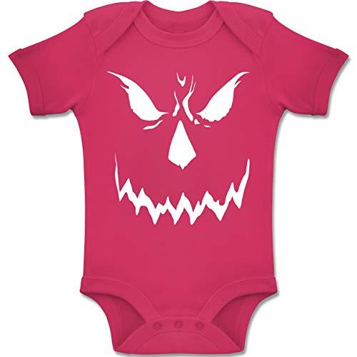 Shirtracer Anlässe Baby - Scary Smile Halloween Kostüm - 1-3 Monate - Fuchsia - BZ10 - Baby Body Kurzarm Jungen Mädchen