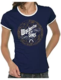 Touchlines Winchester and Sons Girlie Women's Ringer T-Shirt