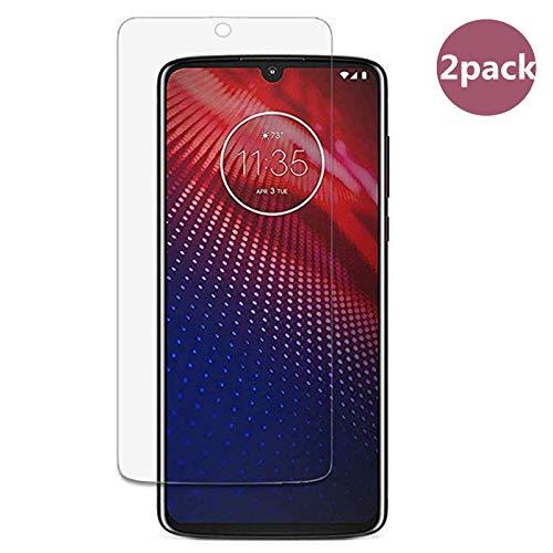 Displayschutzfolie für Motorola Moto Z4, gehärtetes Glas, 2 Stück, 9H ultradünn, Displayschutzfolie für Motorola Moto Z4 [Kratzfest]