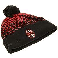 AC Milan FC rosso nero bobble cappello beanie maglia ufficiale stemma  distintivo 6dfe2d6b8690