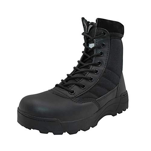 uirend Scarpe Stivali Donna - con Lacci Militare Combattimento Caviglia Martin Boots (Le Scarpe Sono più Piccole)