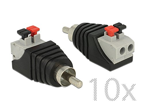 10x Delock 65566 Adapter Terminalblock mit Drucktaste  Cinch Stecker