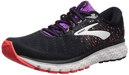 Brooks Glycerin 17, Scarpe da Running Donna, Nero (Black/Fiery Coral/Purple 059), 40.5 EU