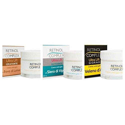 Anti-falten-kit (Kit 3Creme Anti-Falten: 1Creme Antifaltenwirkung von + 1Creme Viperngift. + 1Creme Gift Bienenwachs)