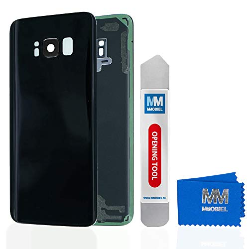 MMOBIEL Backcover Akkudeckel Rück Klappe mit Linse kompatibel mit Samsung Galaxy S8 G950 5.8 Inch (Midnight Black) - Unlocked Handys Att