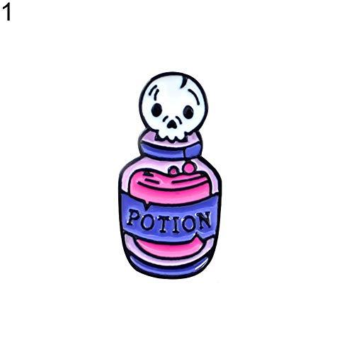 Seba5 Home Wunderschöne Brosche Pins-Unisex Halloween Zombie Schädel Kerze Brosche Gothic Kunst Abzeichen Mantel Dekor Liebhaber Frauen Kreatives Geschenk ☆ (Color : 1#)