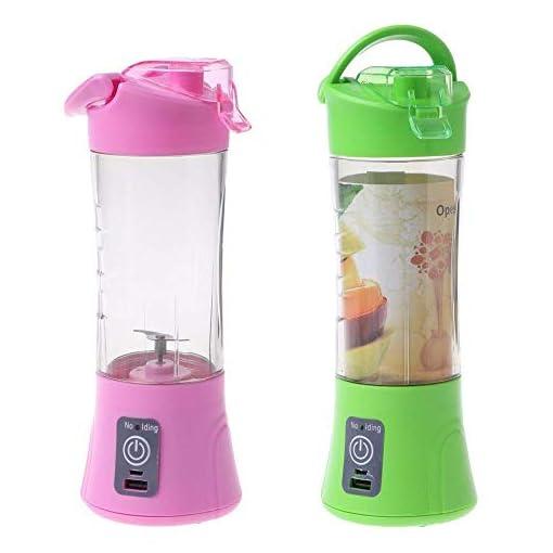 - 414epMN2ByL - Krishna's Rechargeable Electric Blender Fruit Juicer Bottle Cup, Assorted