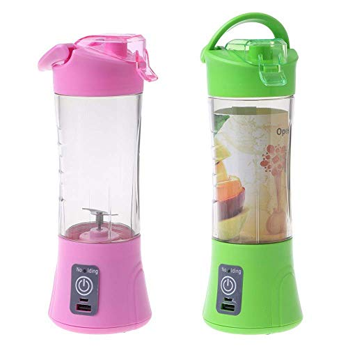 - 414epMN2ByL - Krishna's Rechargeable Electric Blender Fruit Juicer Bottle Cup, Assorted