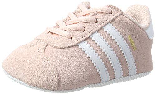 adidas Unisex Baby Gazelle Crib Sneakers, Pink (Icey Pink F17/Ftwr White/Gold Met.), 18 EU