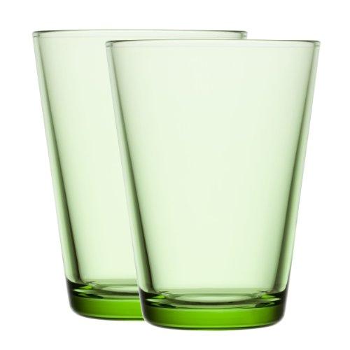 Iittala 1008614 Kartio Glas 40 cl, 2 Stück, apfelgrün