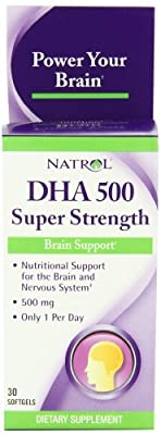 Natrol (Incl Laci Le Beau Teas) Dha 500 Super Strength, 30 Sgel Multi-Pack) by Natrol