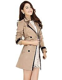 Zicac-Trench coat manteau/veste printemps et d'automne léger mince manches longues pour femmes léger la modèle classique