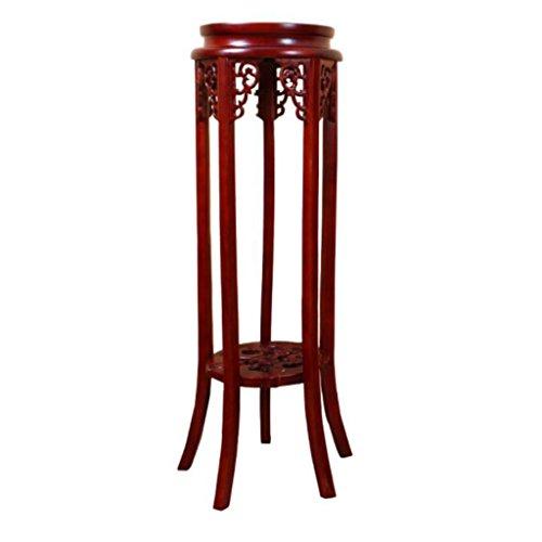 Lxlc Support de Fleur en Bois Massif Salon Balcon Fleur Pot Rack étage Chinois intérieur Multi-Couche Fleur Stand (diamètre 30 * Hauteur 100 cm) (Taille : 30 * 90cm)