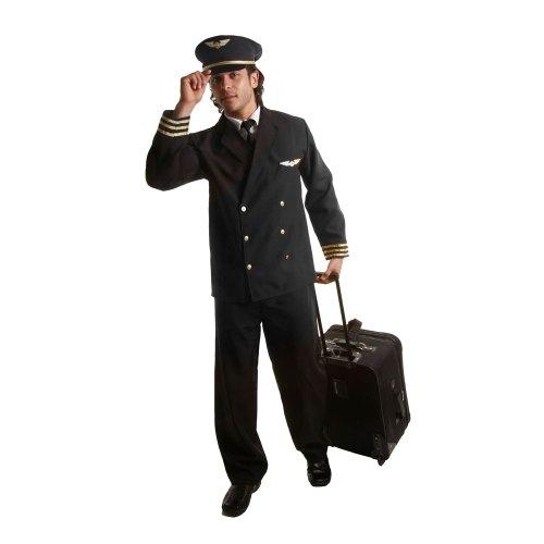 Dress Up America 339-XXL - Erwachsenen-Kostüm Set Pilotenjacke, Größe XXL, (Halloween Kostüme Kleinkind Flugzeug)
