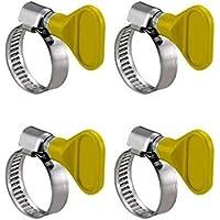 2 pezzi banda 12mm Fascette stringitubo con inserto di gomma P-clips staffa per fissare tubi e cavi /Ø 10mm