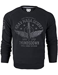 Krav Maga Desert. Crewneck Sweatshirt. Quiet Professionals. Thumbsdown Israel Combat Division. Martial Arts Sweat-shirt. Training. Casual. Gym. MMA Hoodie
