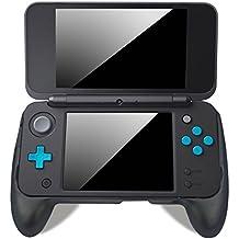 Grip para Nintendo New 2DS XL – LeSB Mango Antideslizante con Soporte para New Nintendo 2DS XL 2017 (Negro)