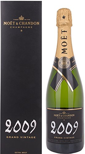 Moet & Chandon Grand Vintage Extra Brut mit Geschenkverpackung 2009 Champagner (1 x 0.75 l)